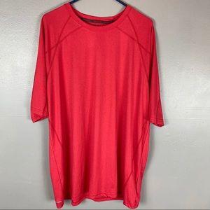 Reebok PlayDry red athletic short shirt sleeve XXL